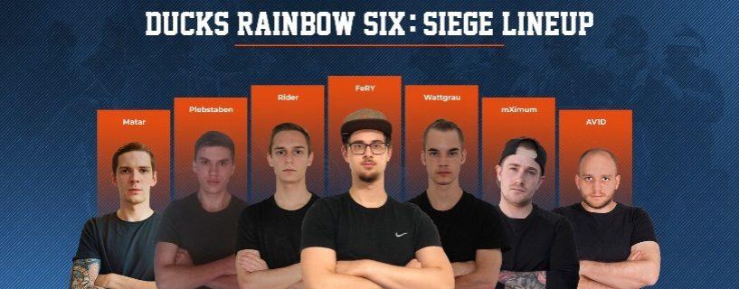 Neues Rainbow Six Team für die Ducks